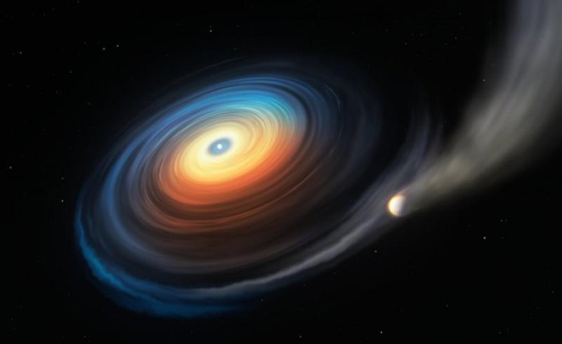 Giant planet found around tiny white dwarf star, a first