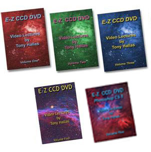Anacortes Telescope Tony Hallas E-Z CCD DVD Video Lecture Vol. 1-5