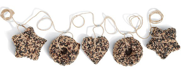 "Mr. Bird Seed Garland 72"" 5 Ornaments (#606)"