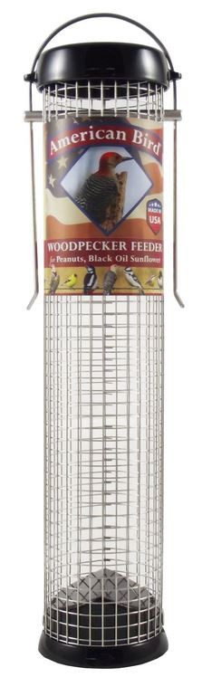 Droll Yankees American Bird 13″ Black Woodpecker Feeder (AB-W13BK)