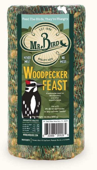 Mr. Bird Woodpecker Feast Small Cylinder (Full Case)