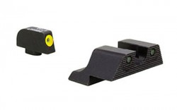 Trijicon HD XR Night Sight Set, Yellow Front Outline, For Glock 17, 17L, 19, 22, 23, 24, 25, 26, 27, 28, 31, 32, 33, 34, 35, 37, 38, 39, Black, 600835